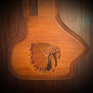 Heat Shield for Indian Cruisers, Baggers & Touring Bikes - Indian Tan, Custom Art
