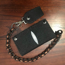 Load image into Gallery viewer, Long Wallet - Stingray - Black with White Mark (ships now)