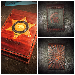 Note book with custom art.
