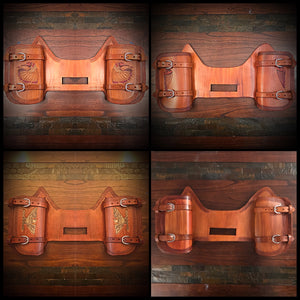 Heat Shield with 2 Pouches for Indian Cruisers, Baggers & Touring Bikes - Custom Art, Indian Tan