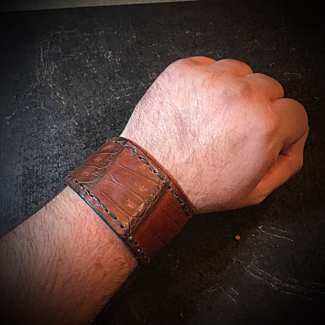 Cuff - Brown Caiman