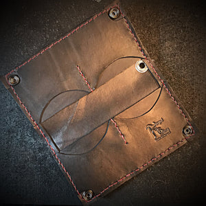"Long wallet - Hippo AKA ""hiphopanonymous"", red stitching"