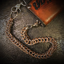 Load image into Gallery viewer, Chainmail Chain - Box Weave - Copper & Steel