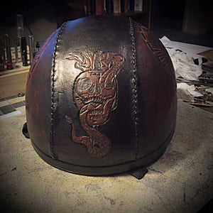 Half Helmet with Custom Art - size XXXlarge