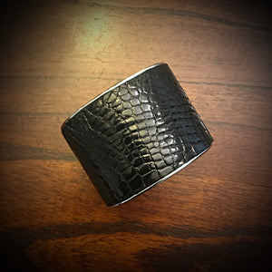 Bracelet- Genuine American Alligator - Black