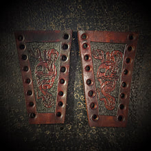 Load image into Gallery viewer, Brake & Clutch Leather Lever Covers - Custom Art