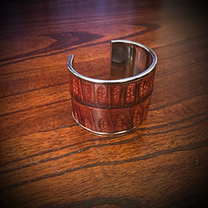 Bracelet - Genuine Caiman Alligator - Brown