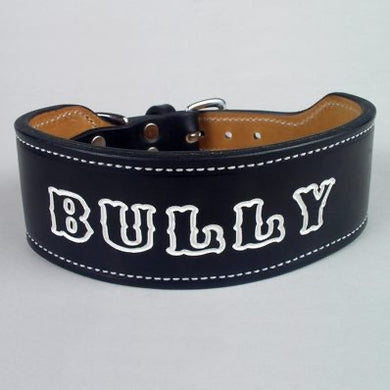 Dog Collar with Custom Art - Black