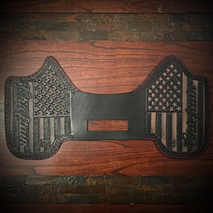 Heat Shield, Old Glory Background, Fits Indian Cruiser, Baggers & Touring Bikes