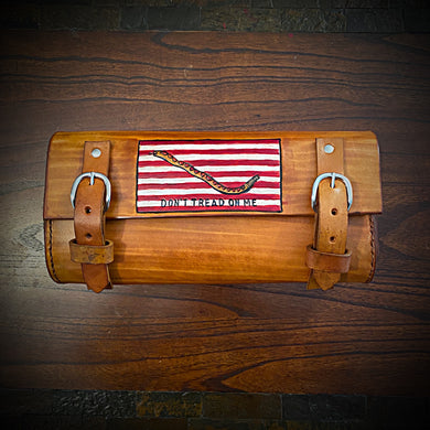 Tool bag for Motorcycle - Navy Jack Flag - Indian Tan