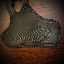 Load image into Gallery viewer, Heat Shield for Indian Scout motorcycle - Custom Art, Black