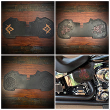 Load image into Gallery viewer, Heat shield for Harley Davidson Larger than a sportster - Black Custom Art