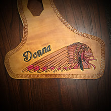 Load image into Gallery viewer, Heat Shield, with Pouch, for Indian Scout Motorcycle - Custom Art, Tan