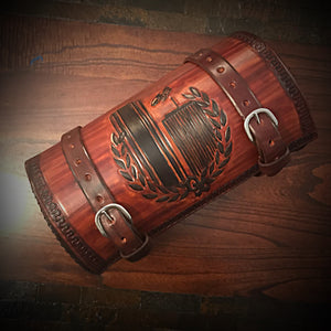 Bedroll Case for Motorcycles - Custom Art Brown