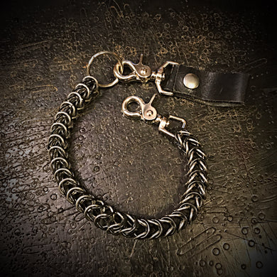 Chainmail Chain - Box Weave - Black & Steel
