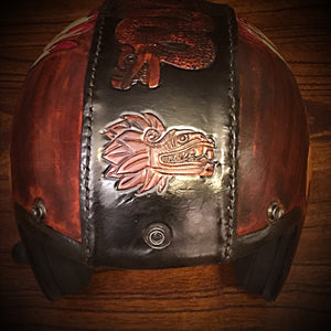 Open Face Helmet with Custom Art - size XXXXlarge