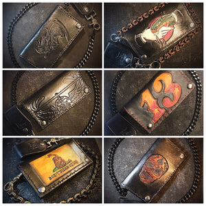 Long wallet - Custom Art, Black
