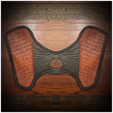 Heat Shield for Indian Scout Motorcycles - Alligator print