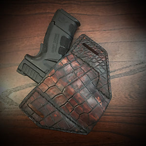 Holster With Alligator Print, Brown (ships now)