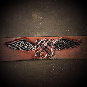 Leather Belt - Custom Art, Brown