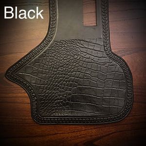 Heat Shield - Embossed Alligator, Black, Fits Indian Cruisers, Baggers, & Touring Bikes