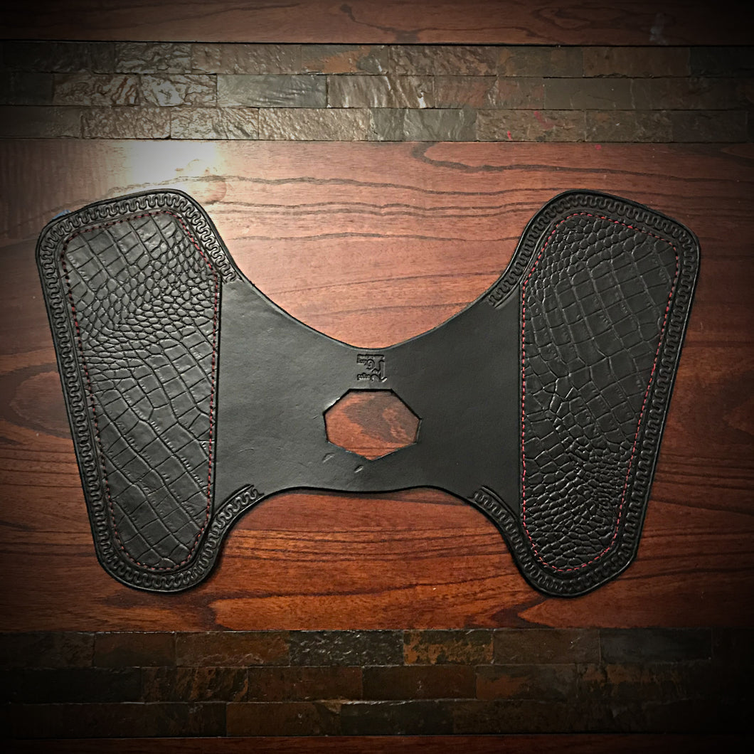 Heat Shield for Indian Scout Motorcycles - Alligator Print, Black