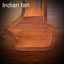 Load image into Gallery viewer, Heat Shield - Embossed Alligator, Indian Tan, Fits Indian Cruisers, Baggers, & Touring Bikes