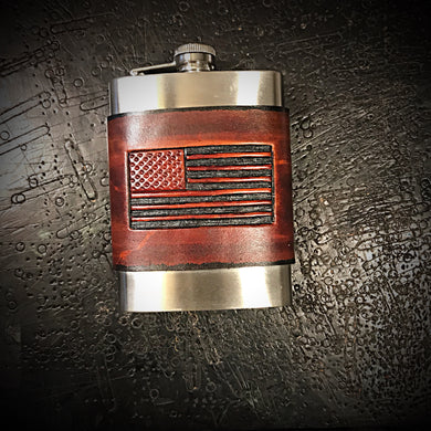 Flask - Old Glory, Brown