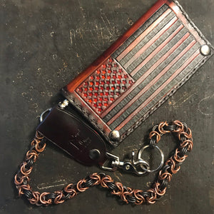 Chainmail Chain - Byzantine Weave- Black & Copper