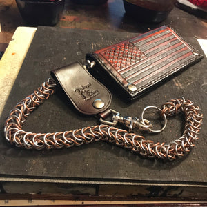 Chainmail Chain - Box Weave - Copper & Steel