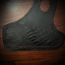 Load image into Gallery viewer, Heat Shield for Indian Scout Motorcycles - Alligator Print, Black