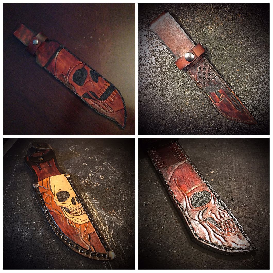 Knife Sheath - With Custom Art