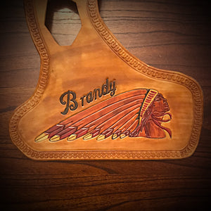 Heat Shield, with Pouch, for Indian Scout Motorcycle - Custom Art, Tan