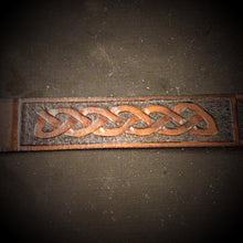Load image into Gallery viewer, Leather Belt - Custom Art, Brown