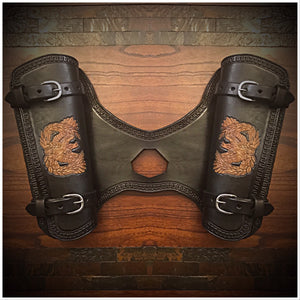 Heat Shield with 2 pouches for Indian Scout Motorcycle - Custom Art