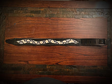 Load image into Gallery viewer, Guitar Strap - Exotic Leather Inlay