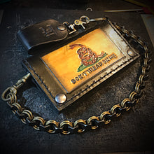 Load image into Gallery viewer, Chainmail Chain - Nuts of Steel - Black Nuts, Brass Rings