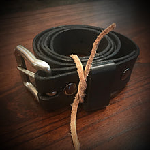 Load image into Gallery viewer, Leather Belt - Black