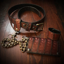 Load image into Gallery viewer, Leather Belt - Caiman alligator