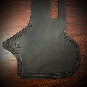 Heat Shield with Pouch for Indian Cruisers, Baggers & Touring Bikes - Black, Custom Art