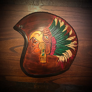 Open Face Helmet - Aztec Warrior
