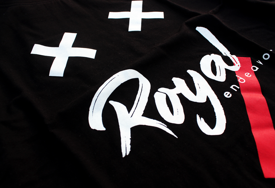 Royal Endeavour | Black T-shirt