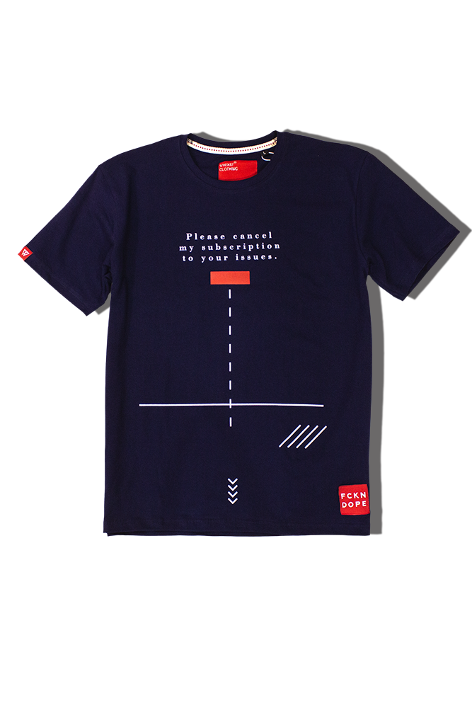 Subscription | Navy Blue T-shirt