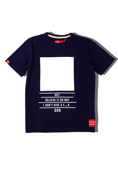 IDGAF | Navy T-shirt