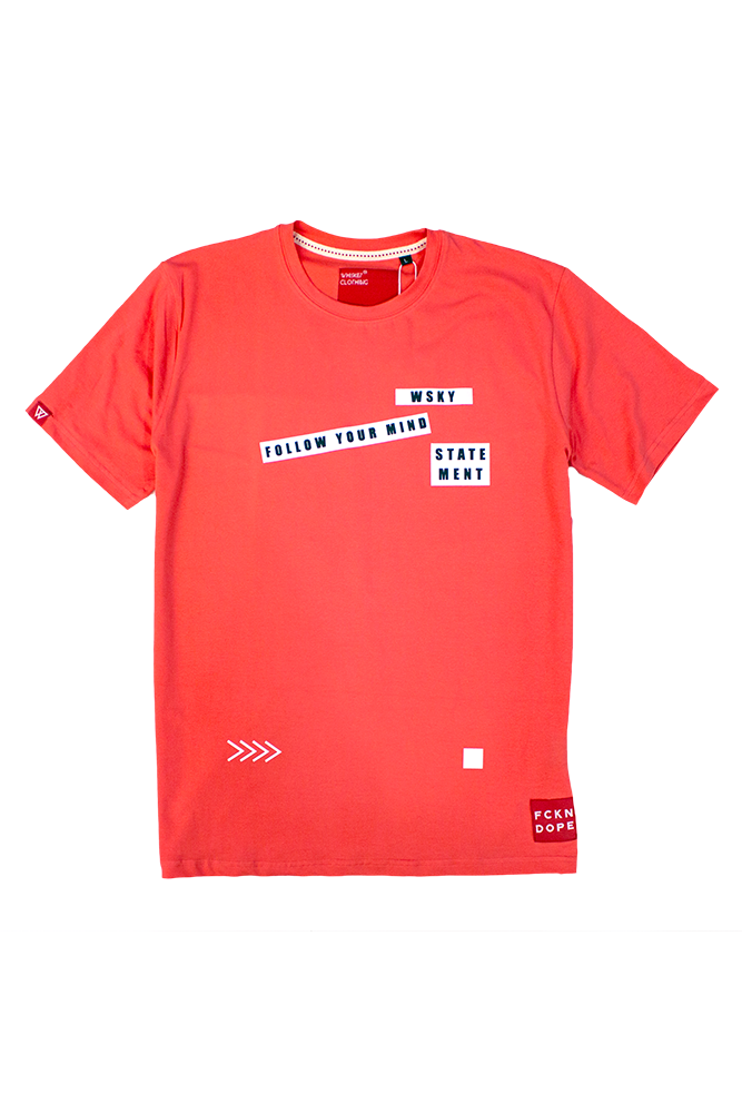 Follow Your Mind | Coral T-shirt