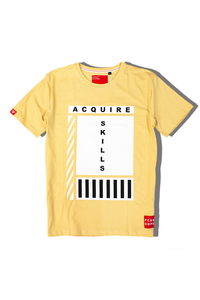 Acquire Skills | Cream T-shirt