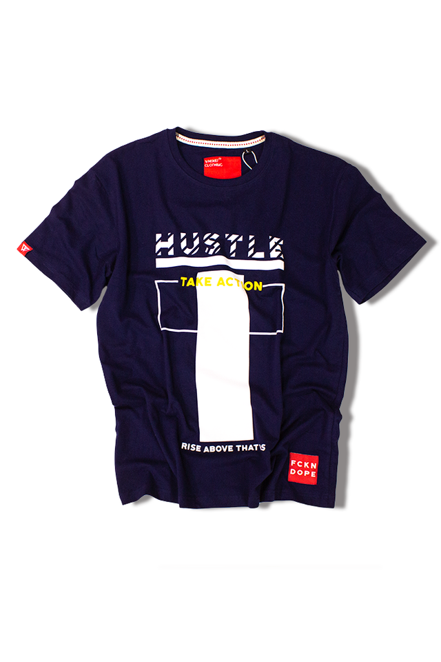 Hustle | Navy Blue T-shirt