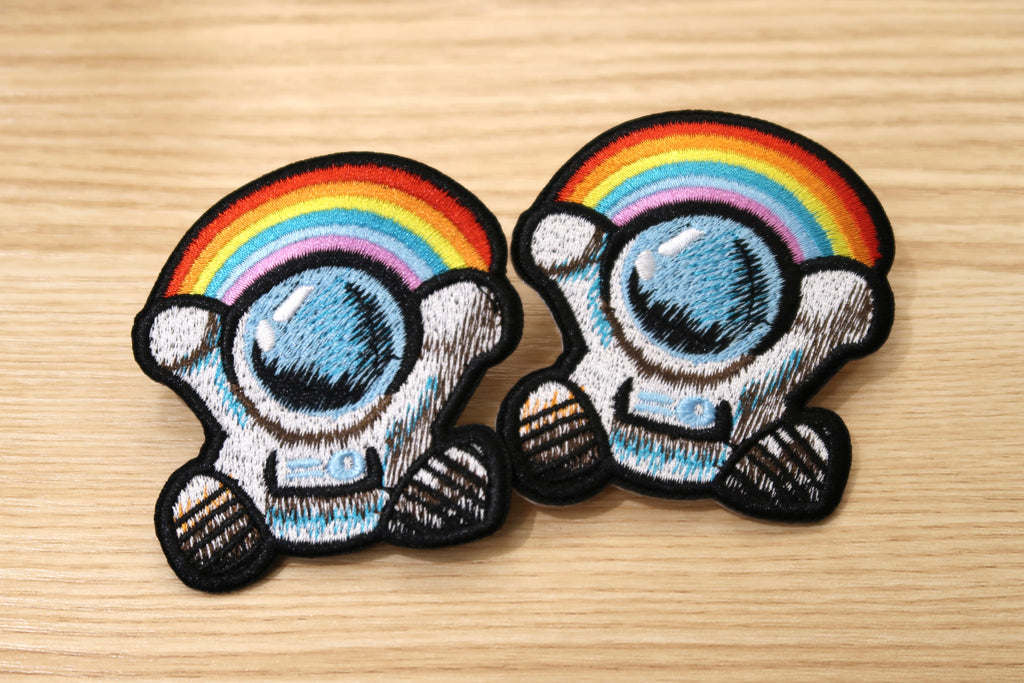 彩虹太空人布章 Rainbow Spaceman Embroidered Patch