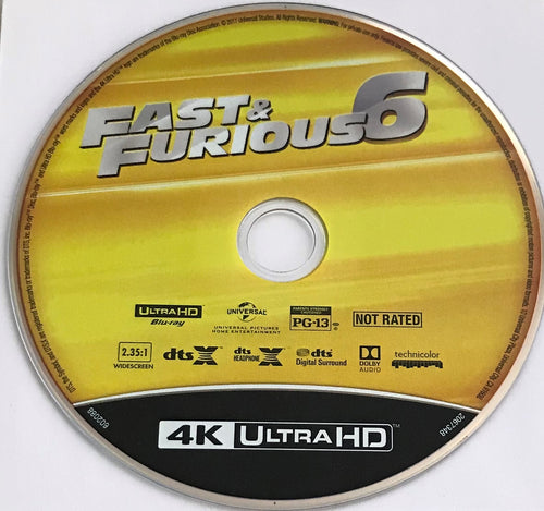 Fast and Furious 6 4K Media