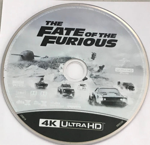 The fate of The Furious 4K Media